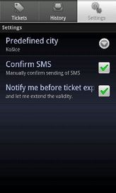SMS Parking and Ticket screenshot