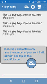 Remove SMS accents screenshot